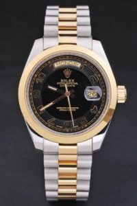 Rolex-Day-Date-Black-Golden-Stainless-Steel-Watch-RD2876-76