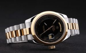 Rolex-Day-Date-Black-Golden-Stainless-Steel-Watch-RD2876-76_1